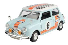 Mini  - Cooper *Gulf Rally #6* light blue/orange - 1:18 - Motor Max - 79743 - mmax79743 | Toms Modelautos