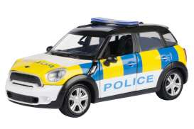 Mini  - Cooper S Countryman white/yellow/blue - 1:24 - Motor Max - 79751 - mmax79751 | Toms Modelautos