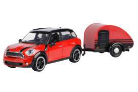 Mini  - Cooper S Countryman red/black - 1:24 - Motor Max - 79761 - mmax79761 | Toms Modelautos