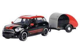 Mini  - Cooper S Countryman black/red - 1:24 - Motor Max - 79762 - mmax79762 | Toms Modelautos