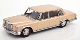 Mercedes Benz  - 600 SWB 1963 light gold/chrome - 1:18 - KK - Scale - 180603 - kkdc180603 | Toms Modelautos