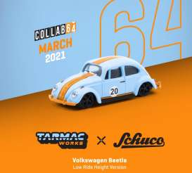 Volkswagen  - Beetle blue/orange - 1:64 - Tarmac - T64S006GF - TC-T64S006GF | Toms Modelautos