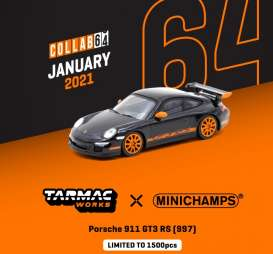 Porsche  - 911 GT3 RS black - 1:64 - Tarmac - T64MC-001-BK - TC-T64MC001BK | Toms Modelautos