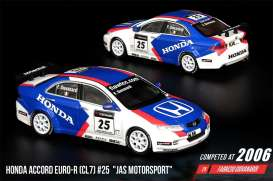 Honda  - Accord Euro-R (CL7) #25 2006 blue/white/red - 1:64 - Inno Models - in64CL7MGP20JS - in64CL7MGP20JS | Toms Modelautos