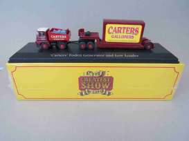 Foden  - Generator & Low Loader dark red/red/yellow - 1:76 - Magazine Models - 4654101 - mag4654101 | Toms Modelautos