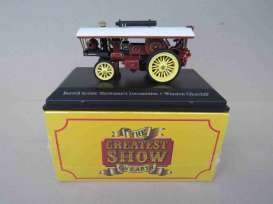 Burrell  - Scenic Showman's Locomotive dark red/red/yellow - 1:76 - Magazine Models - 4654102 - mag4654102 | Toms Modelautos