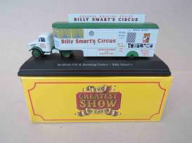 Bedford  - Ox & Booking Trailer light blue-green - 1:76 - Magazine Models - 4654103 - mag4654103 | Toms Modelautos