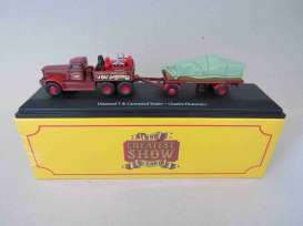 Diamond  - T & Canvassed Trailer dark red/red/green - 1:76 - Magazine Models - 4654111 - mag4654111 | Toms Modelautos