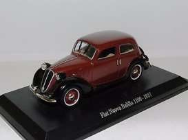 Fiat  - Nuova 1937 red/black - 1:43 - Magazine Models - Fiat1100 - magFiat1100 | Toms Modelautos