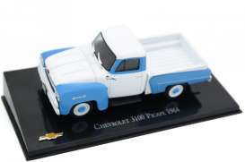Chevrolet  - 3100 Picape 1964 blue/white - 1:43 - Magazine Models - magPicape64 - magChePicape64 | Toms Modelautos