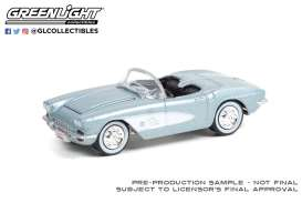 Chevrolet  - Corvette 1961 silver/black - 1:64 - GreenLight - 37230A - gl37230A | Toms Modelautos