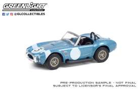 Shelby  - Cobra 1964 blue/black - 1:64 - GreenLight - 37230B - gl37230B | Toms Modelautos