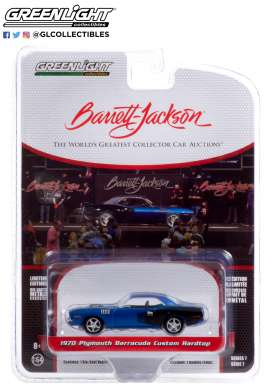 Plymouth  - Barracuda 1971 blue - 1:64 - GreenLight - 37230C - gl37230C | Toms Modelautos