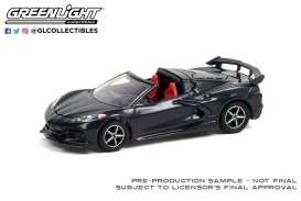 Chevrolet  - Corvette 2020 grey/red - 1:64 - GreenLight - 37230F - gl37230F | Toms Modelautos