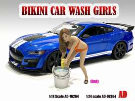 Figures  - Bikini Car Wash Girl *Cindy* 2021  - 1:24 - American Diorama - 76364 - AD76364 | Toms Modelautos