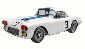 Chevrolet  - Corvette 1971 white/blue - 1:18 - Acme Diecast - RAR18011 - acmeRAR18011 | Toms Modelautos