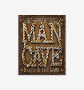 Tac Signs  - Man Cave brown - Tac Signs - D1701 - tacD1701 | Toms Modelautos