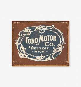 Tac Signs  - Ford blue/brown - Tac Signs - D1707 - tacD1707 | Toms Modelautos
