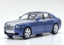 Rolls Royce  - Ghost SWB blue/grey - 1:18 - Kyosho - 8802MBS - kyo8802MBS | Toms Modelautos