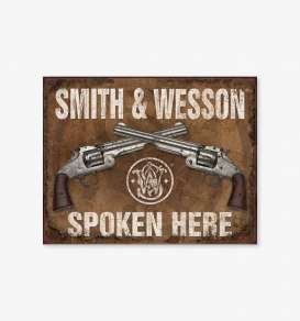 Tac Signs  - Smith & Wesson brown/white - Tac Signs - D1849 - tacD1849 | Toms Modelautos