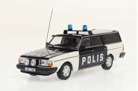 Volvo  - 245 *Polis* 1983 white/black - 1:43 - Triple9 Collection - 43079 - T9-43079 | Toms Modelautos