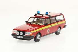 Volvo  - 245 *Radningstjansten * 1983 red/yellow - 1:43 - Triple9 Collection - 43080 - T9-43080 | Toms Modelautos