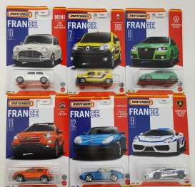 Assortment/ Mix  - Best of France 2021 various - 1:64 - Matchbox - HBL02 - MBHBL02-979B | Toms Modelautos