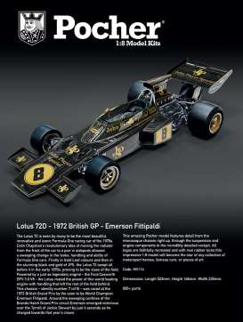 Lotus  - 72D 1972 black/gold - 1:4 - Pocher - HK114 - PocherHK114 | Toms Modelautos