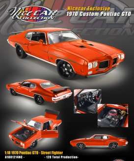 Pontiac  - GTO custom 1970 orange - 1:18 - Acme Diecast - 1801214NC - acme1801214NC | Toms Modelautos
