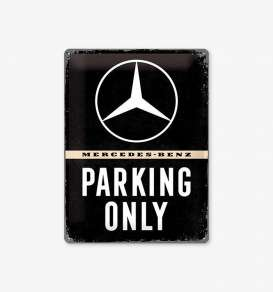 Tac Signs 3D  - Mercedes black/white - Tac Signs - NA23262 - tac3D23262 | Toms Modelautos