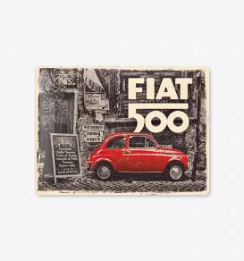 Tac Signs 3D  - FIAT brown/white/red - Tac Signs - NA23295 - tac3D23295 | Toms Modelautos