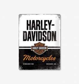 Tac Signs 3D  - Harley Davidson black/white/orange - Tac Signs - NA23266 - tac3D23266 | Toms Modelautos