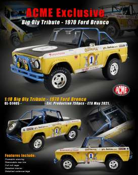 Ford  - Bronco 1972 gold/white - 1:18 - Acme Diecast - 51405 - acme51405 | Toms Modelautos