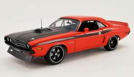 Dodge  - 426 Hemi Challenger Street Fig 1971 orange/black - 1:18 - Acme Diecast - 1806015 - acme1806015 | Toms Modelautos