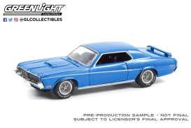 Mercury  - Cougar 1969 blue - 1:64 - GreenLight - 13300B - gl13300B | Toms Modelautos
