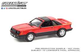 Ford  - Mustang Cobra 1981 red - 1:64 - GreenLight - 13300C - gl13300C | Toms Modelautos