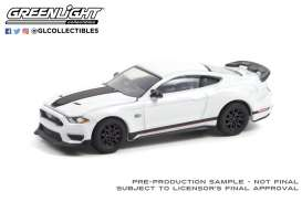Ford  - Mustang Mach 1 2020 white - 1:64 - GreenLight - 13300F - gl13300F | Toms Modelautos