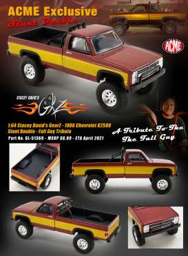 Chevrolet  - K2500 *Stunt Double, Fall Guy* 1986  - 1:64 - Acme Diecast - 51369 - acme51369 | Toms Modelautos