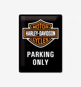 Tac Signs 3D  - Harley black/orange - Tac Signs - NA23130 - tac3D23130 | Toms Modelautos