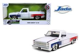 Chevrolet  - C10 pick-up 1985 white/red/blue - 1:24 - Jada Toys - 31684 - jada31684 | Toms Modelautos