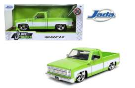 Chevrolet  - C10 pick-up 1985 green/white - 1:24 - Jada Toys - 31685 - jada31685 | Toms Modelautos