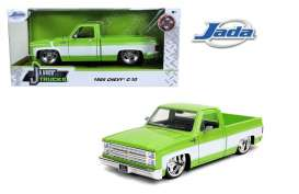 Chevrolet  - C10 pick-up 1985 green/white - 1:24 - Jada Toys - 31686 - jada31686 | Toms Modelautos
