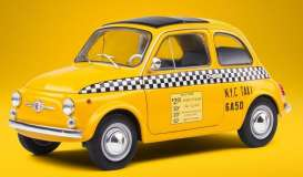 Fiat  - 500 yellow - 1:18 - Solido - 1801407 - soli1801407 | Toms Modelautos