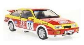 Ford  - Sierra 1987 red/yellow - 1:18 - Solido - 1806103 - soli1806103 | Toms Modelautos