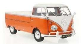 Volkswagen  - T1 1950 orange/white - 1:18 - Solido - 1806701 - soli1806701 | Toms Modelautos