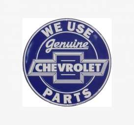 Tac-Signs Big Round  - Chevrolet blue/white - Tac Signs - 24RD101 - tacB24RD101 | Toms Modelautos