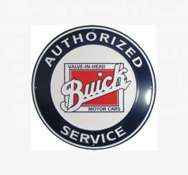 Tac-Signs Big Round  - Buick white/blue/red - Tac Signs - 24RD124 - tacB24RD124 | Toms Modelautos