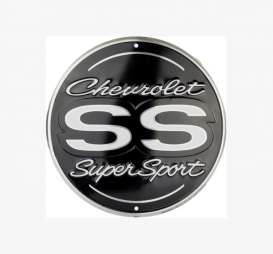 Tac-Signs Big Round  - Chevrolet black/silver - Tac Signs - 24RD131 - tacB24RD131 | Toms Modelautos