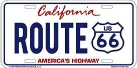 Funny Plates  - Route 66 white/blue/red - Tac Signs - 19230 - fun19230 | Toms Modelautos