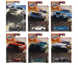 Ford  - Mustang assortment various - 1:64 - Matchbox - GGF12 - MBGGF12-956B | Toms Modelautos